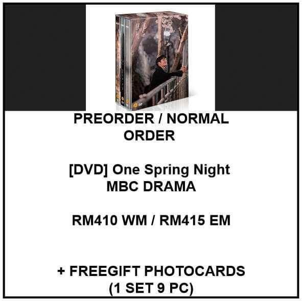 [DVD] One Spring Night MBC DRAMA - PREORDER/NORMAL ORDER/GROUP ORDER/GO + FREE GIFT BIAS PHOTOCARDS (1 ALBUM GET 1 SET PC, 1 SET GET 9 PC)
