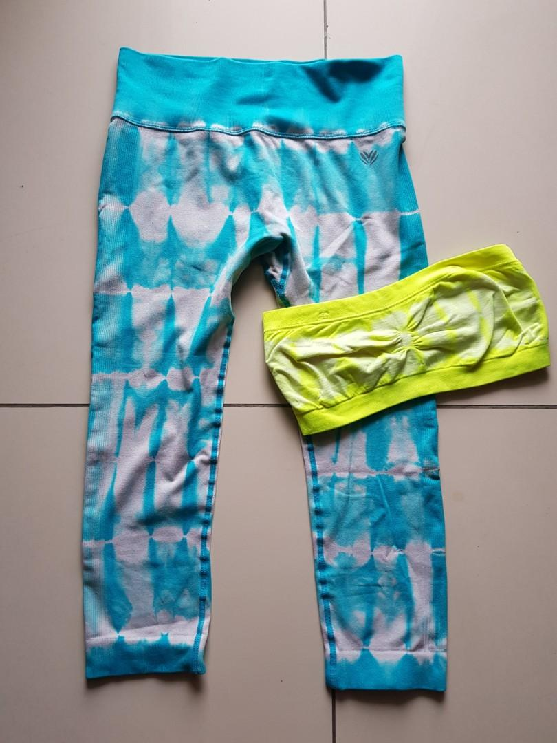 Forever 21 Yoga Pants / Gym Leggings WITH FREE florescent sports bra!