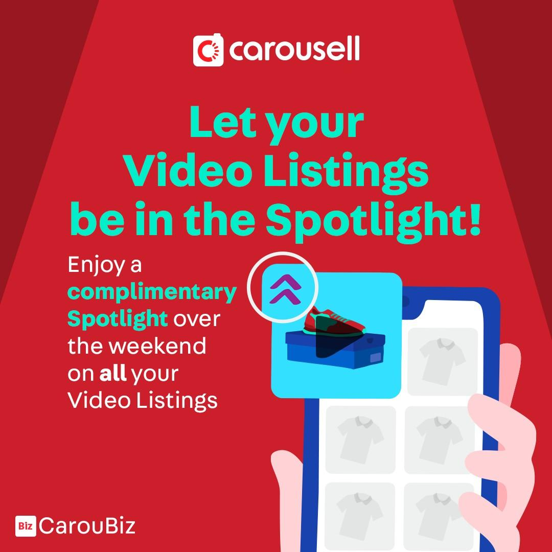 [FREE SPOTLIGHT!] Let your Video Listings be in the Spotlight. Sign up for CarouBiz today!