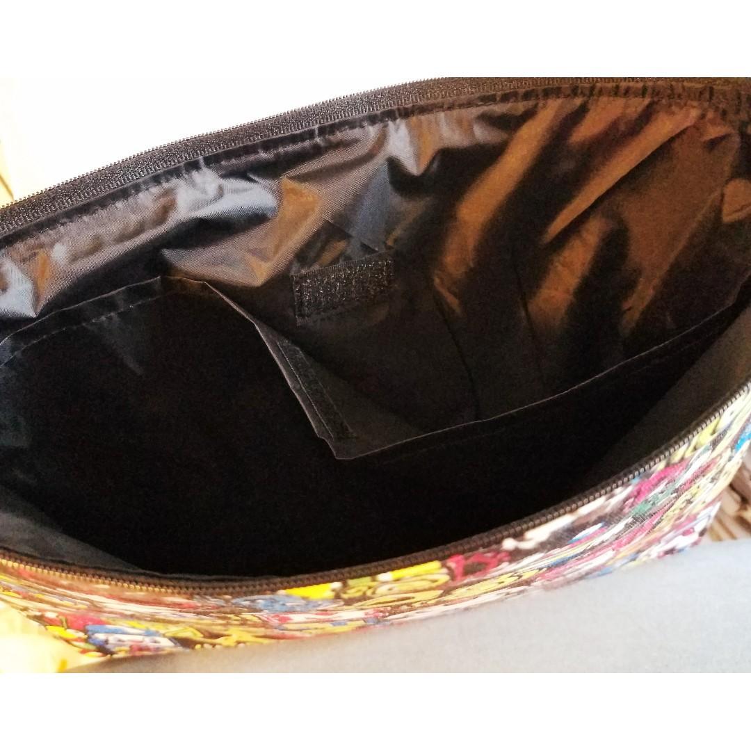 HYSTERIC Mini 黑超BB 拉鍊袋 A4size 文件袋連手帶 收納袋 雜誌袋 書袋 夾棉內裡 有暗格  彩色圖案 (包平郵)