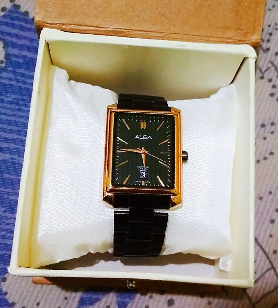 Jam tangan merk ALBA Black Gold series Quartz