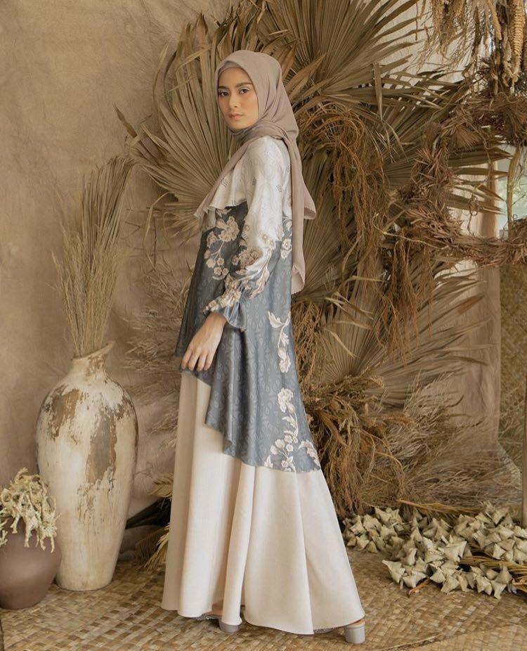 Lasiana Tunik by Wearing Klamby - Greyblue - Size XL