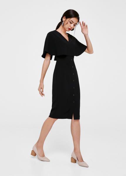 LB cape black dress