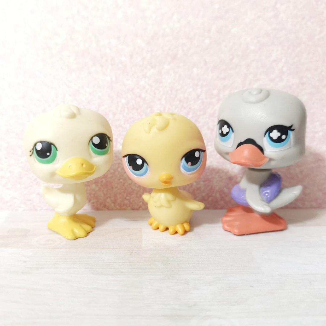 Littlest Pet Shop lps duck trio lot