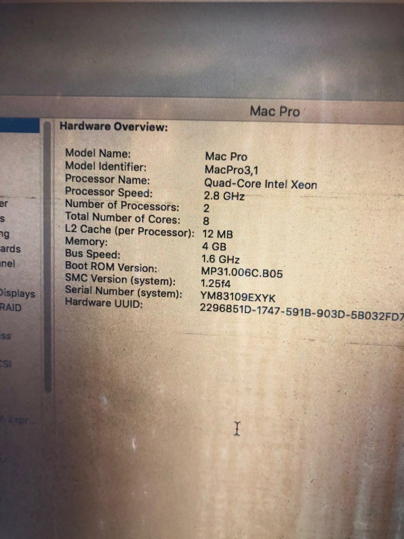 Mac Pro 8 cores 2.4 ghz year 2008/9