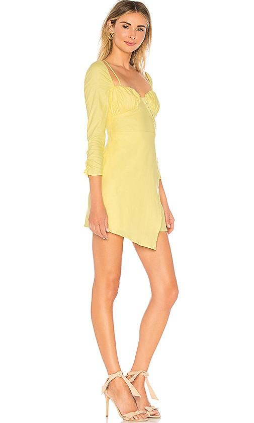 Majorelle Micha Linen Dress in Buttermilk Yellow - Size M