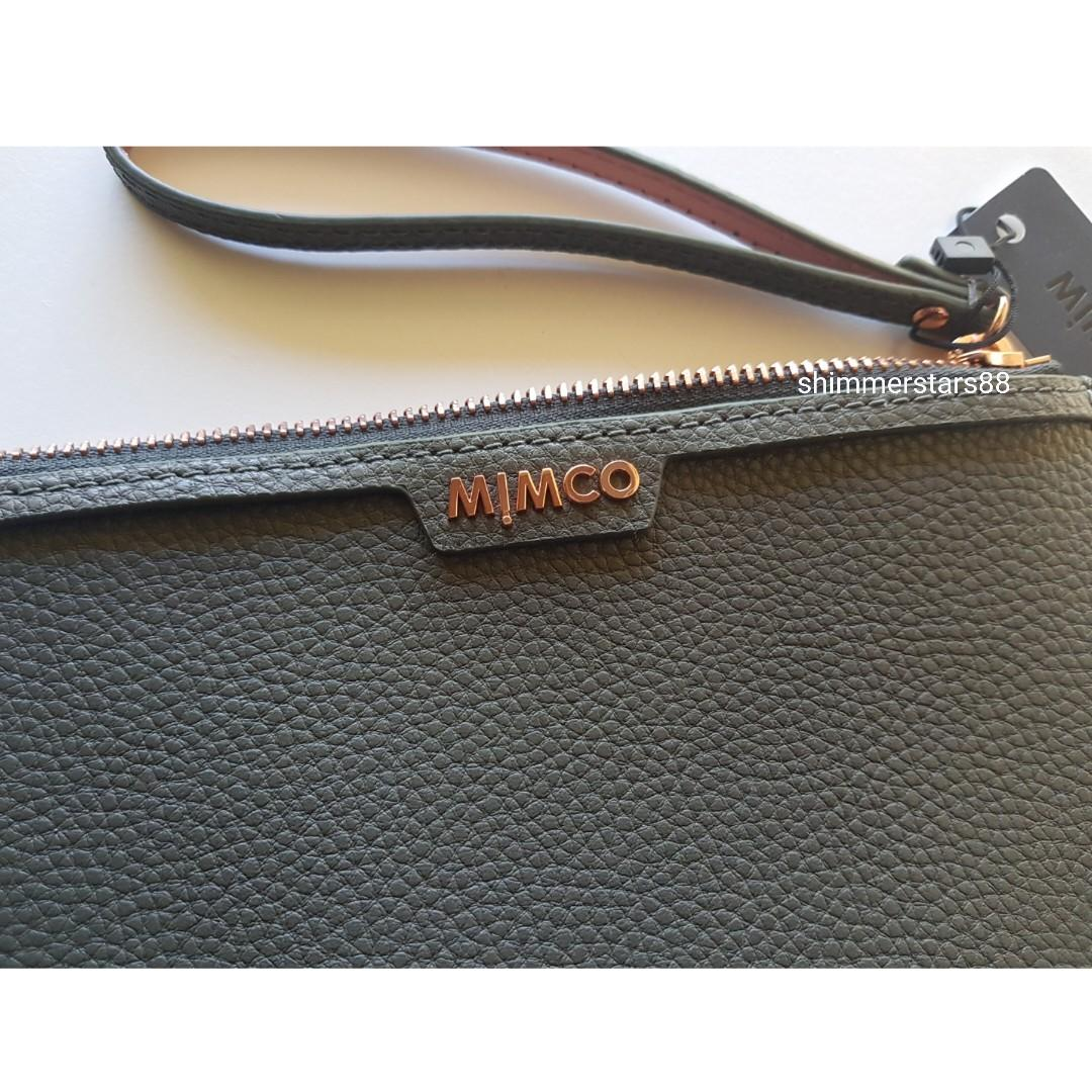 Mimco Medium Leather Pouch Clutch,  RRP$99.95
