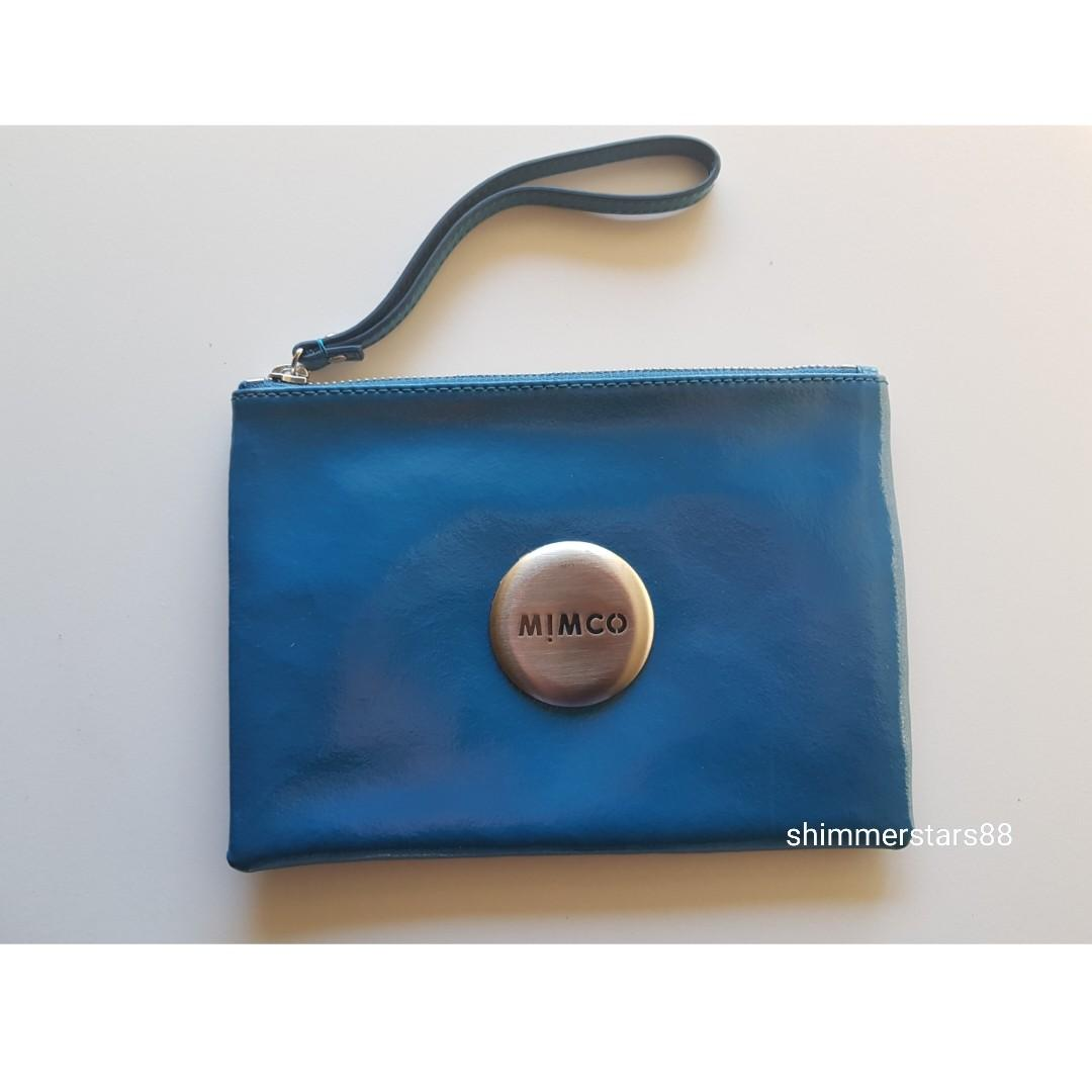 Mimco Medium Patent Leather clutch pouch, RRP$99.95