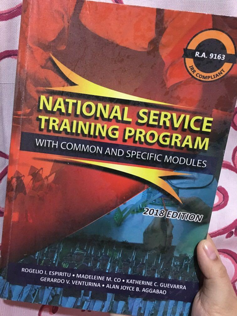 National Service Training Program with common and specific modules 2018 edition