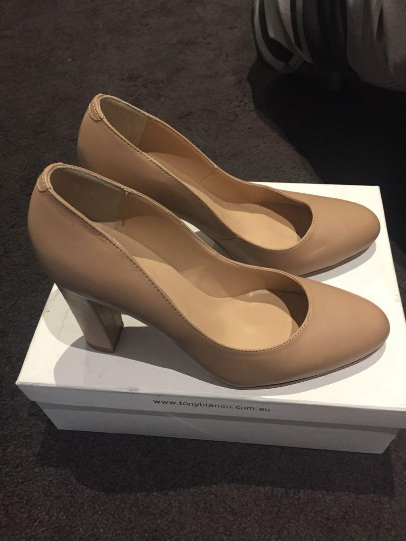 Never Worn Tony Bianco Size 9.5 Tora Heel - Skin Capretto / Nude