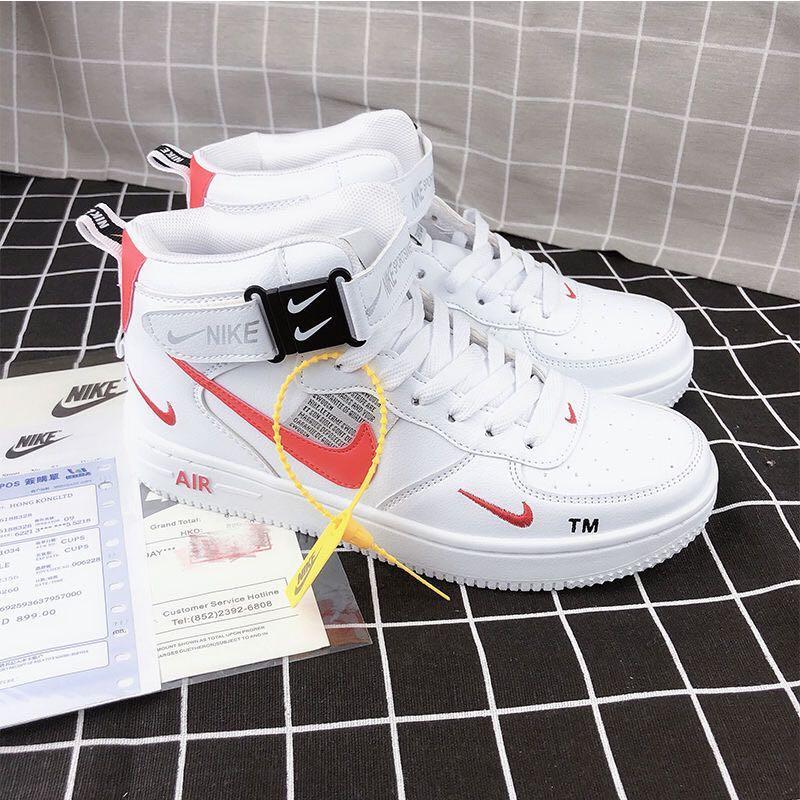 全新現貨Nike Air Force1 空軍一號男女休閒運動鞋AF1滑板鞋純小白鞋