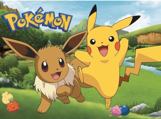 PRE-ORDER: Buffalo Pokemon Pikachu & Eevee Spring  100Piece Jigsaw Puzzle