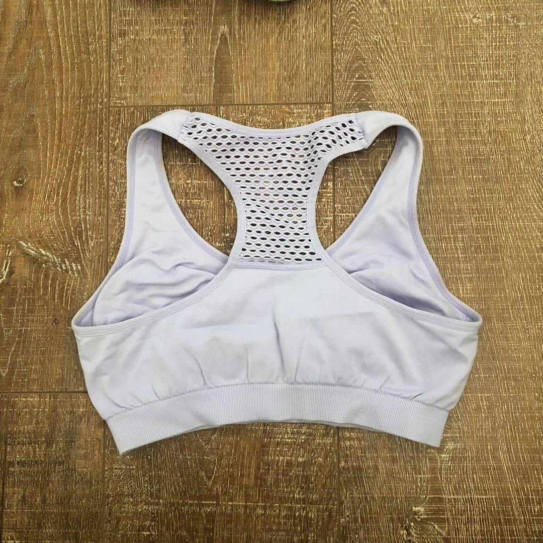 Purple sports bra