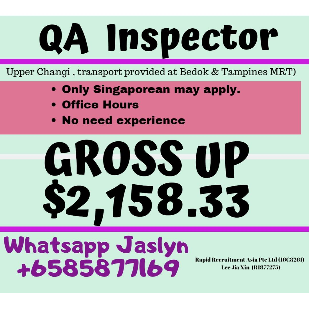 QA /QC  Inspector @ East (Up to $2200 gross)