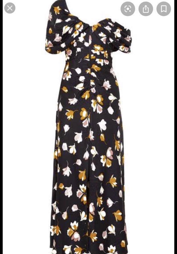Self portrait off the shoulder dress in floral print size 10 $200