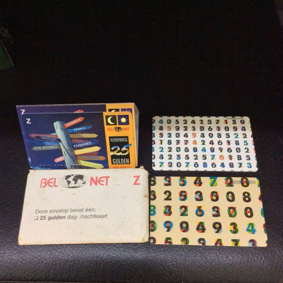 Set Of Netherland Public Phone Cards