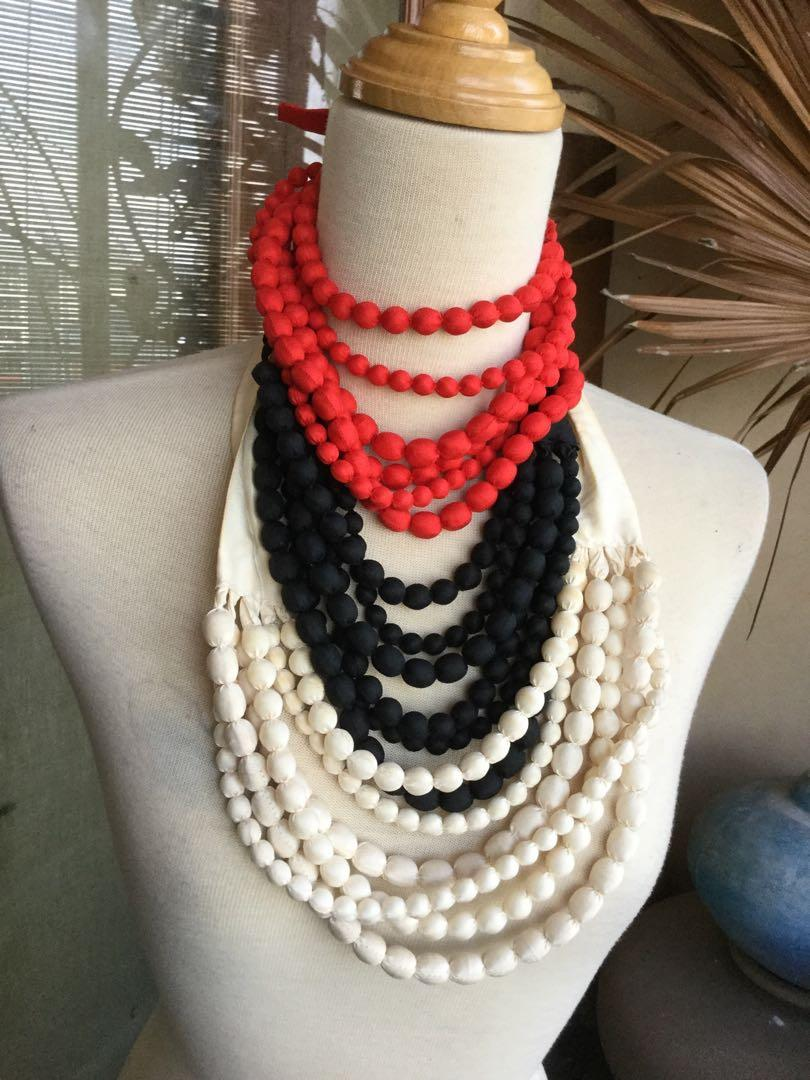Silk designer bead and string necklaces