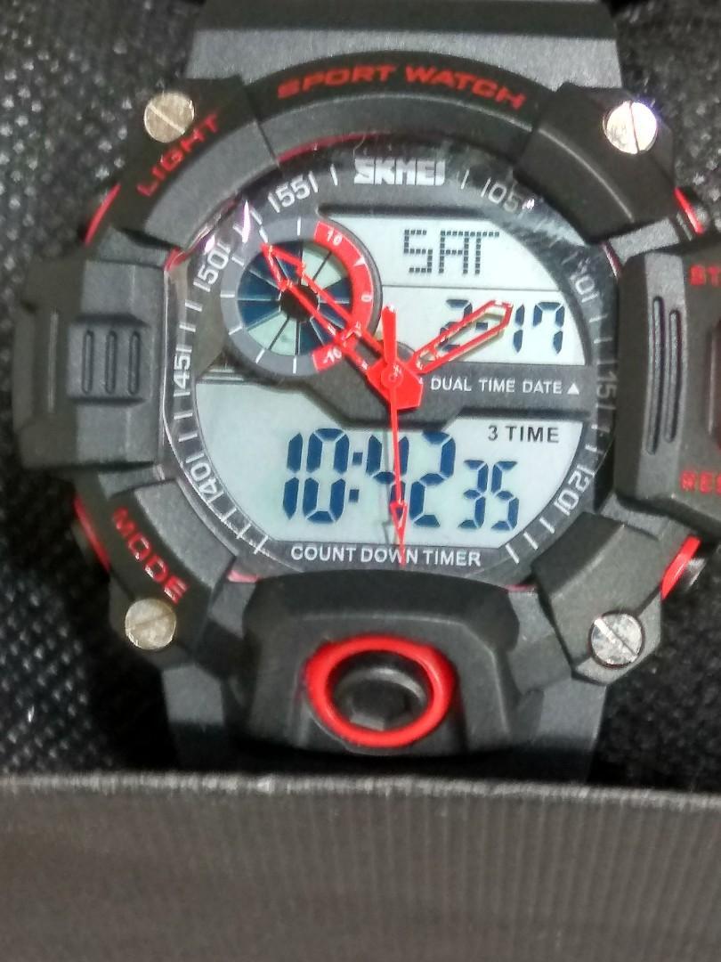 SKMEI  1033,雙顯運動錶,新品