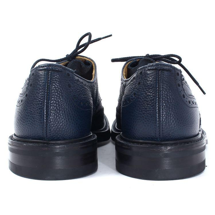 Sophnet x Tricker's Navy grained leather wing tip shoes soph