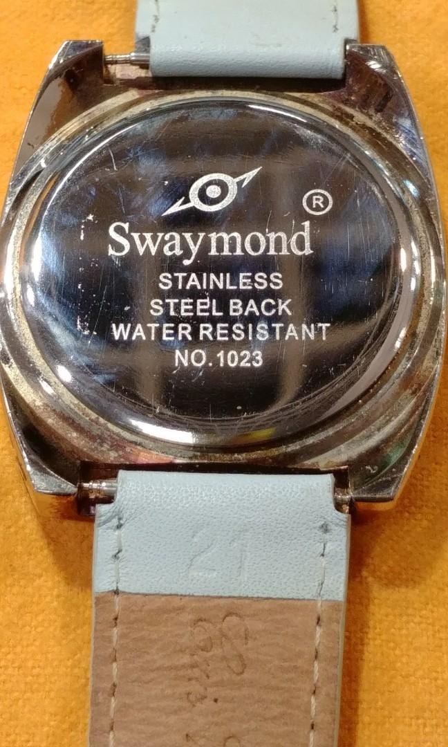 Swaymond(Playboy)gold plated crystal watch