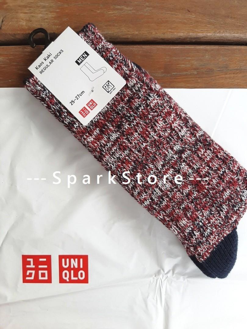 Uniqlo Kaos Kaki Slub Socks Merah