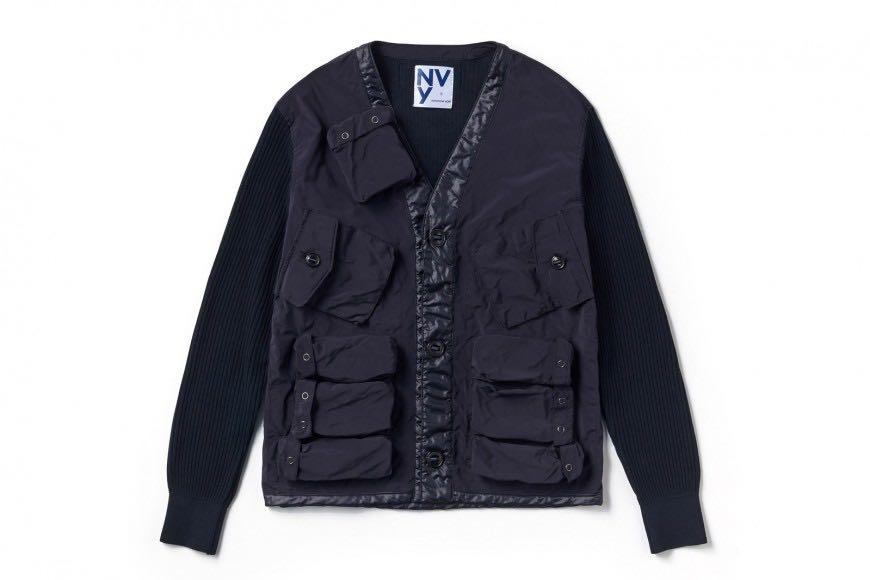 United Arrows & Sons Nvy by Nick Wooster military  cardigan