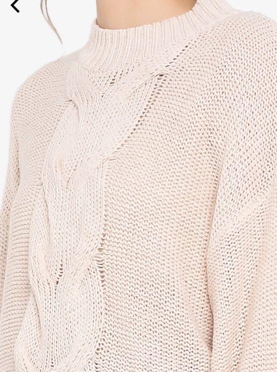 Zalora basic cable knit jumper