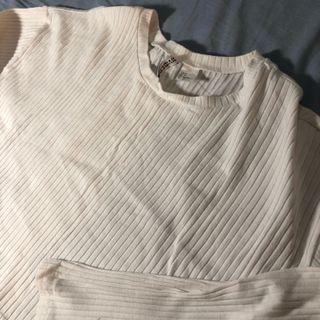 H&M 白色針織上衣