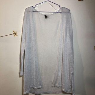 H&M 白色針織外套