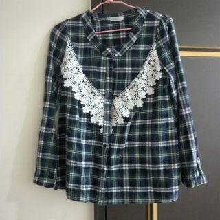 復古刷色蕾絲襯衫#五折清衣櫃