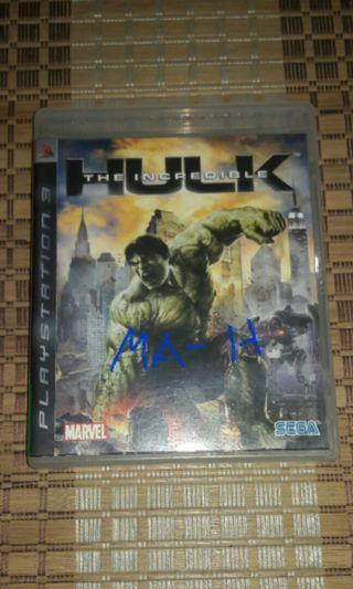 Hulk ps3 game