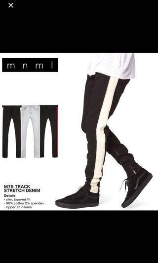 Mnml m75 牛仔褲 白邊 現貨31腰 一條 fog 小賈