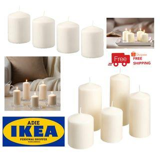 IKEA HEMSJO / FENOMEN Unscented Block Candle