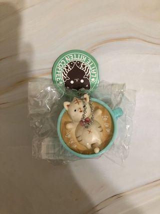貓咪咖啡杯吊飾