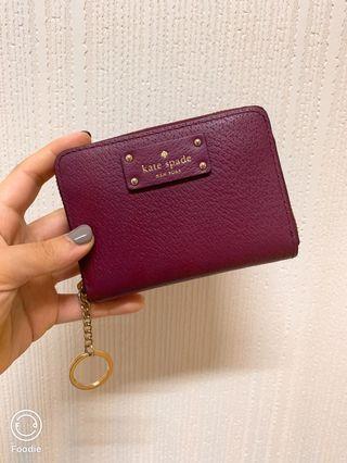 Kate spade莓紅零錢包