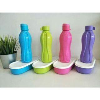 Candypop Ecobottle set (4) 500ml with pwp Oval Keeper (4) 450ml