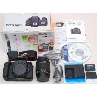 Canon 760D + 18-55 IS STM ( Flip the touch screen, WiFi, NFC)