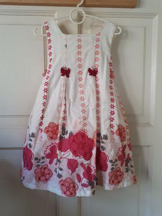 Cute butterly detail dress with umpire waist tie back #letgo50