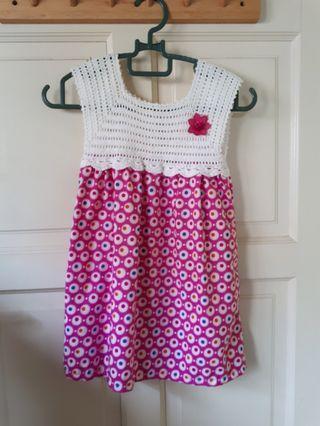 Handmade Crochet top dress #18Sale