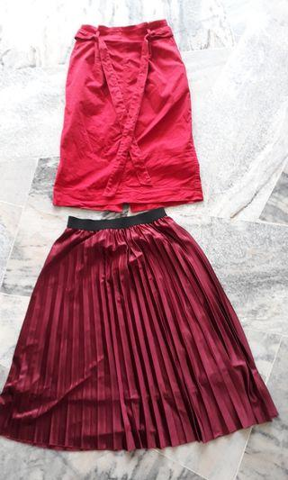 Pleated / Belted Skirt (S/M)