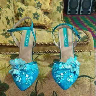 High heels mewah Lace Mutiara design AVEDA