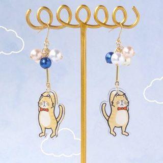 貓咪夾式耳環