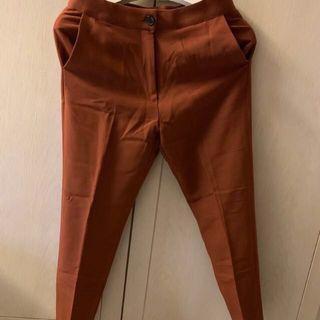 正韓 韓製 土色西裝褲