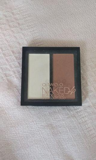 o.two.o naked 4 black gold contour duo