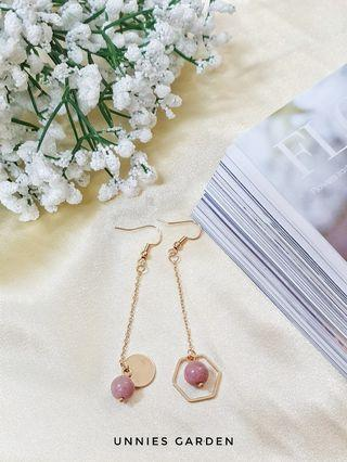 Pink Gold Earring
