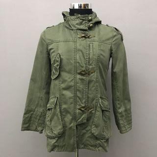 Fishtail Parka Hoodie Long Green Jacket
