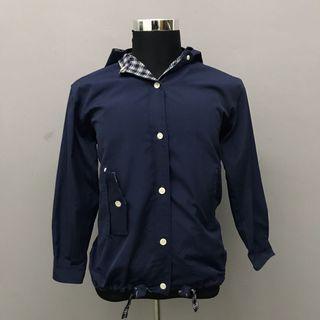 Mic Brown Casual Hoodie Blue Jacket