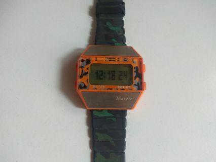 Marble digital watch