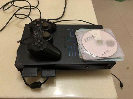 PS2主機 加一個把手和記憶卡8MB