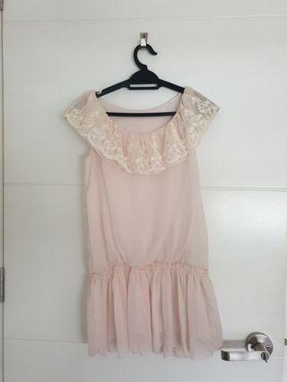 English Lace Beige Colour Top